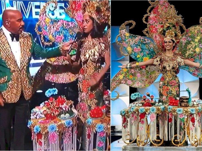 Steve Harvey Salah Sebut Nama Pemenang Kostum Terbaik di Miss Universe