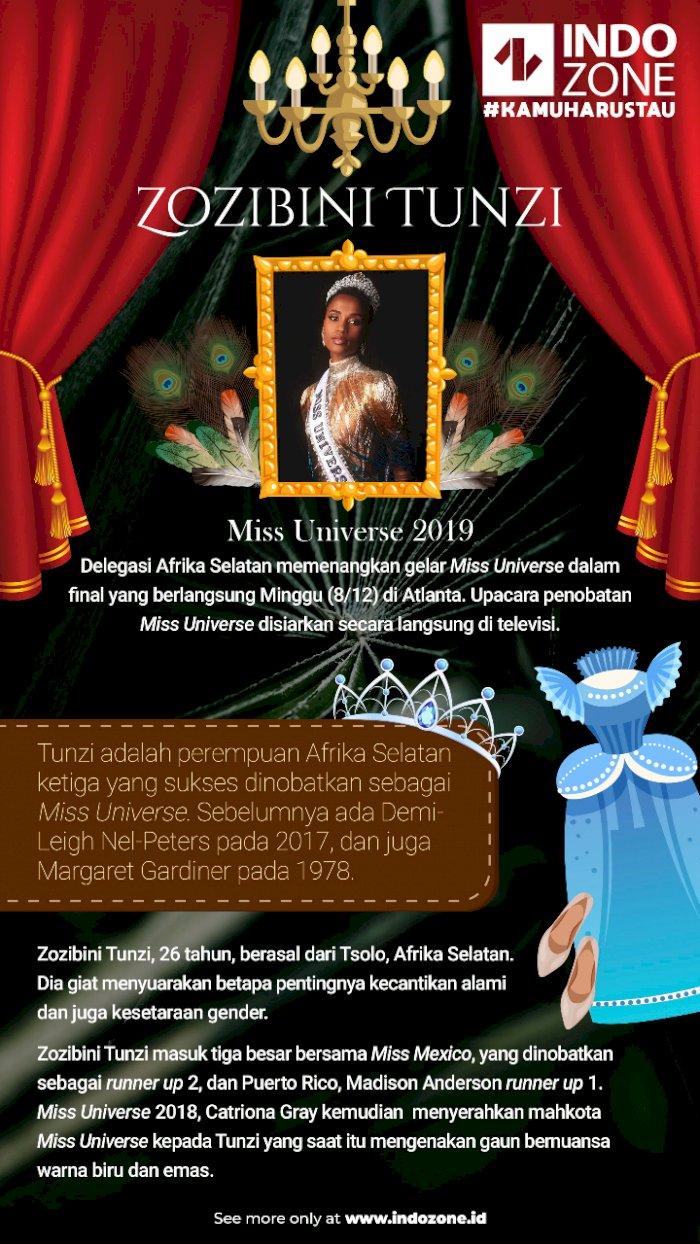 Zozibini Tunzi, Miss Universe 2019 dari Afrika Selatan
