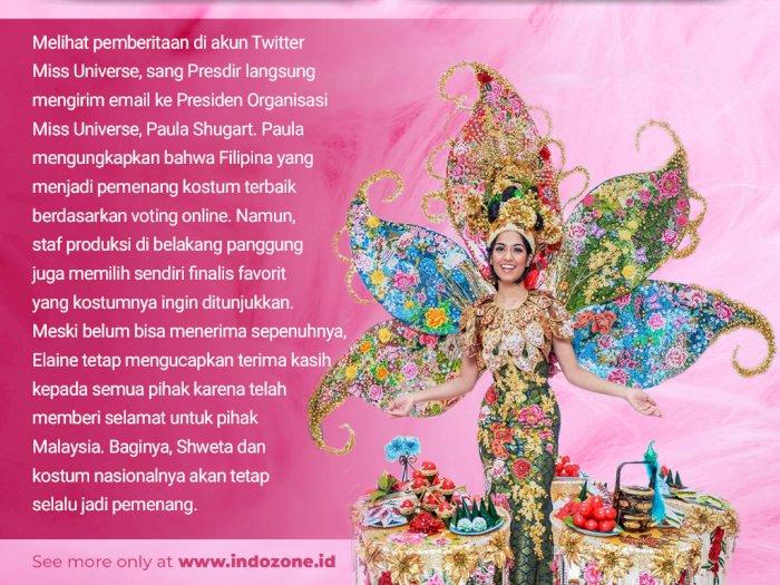 Malaysia Batal Menang Kostum Nasional Terbaik di Miss Universe 2019