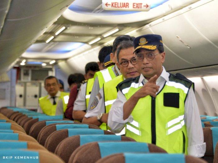 Jelang Libur Nataru, Menhub Cek Kesiapan Pesawat di Bandara Soetta