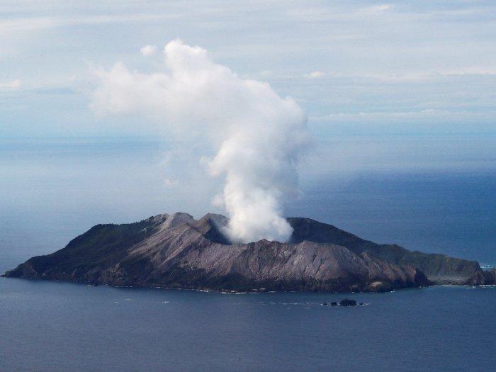 FOTO: Kondisi Gunung Berapi di Selandia Baru Pascaletusan