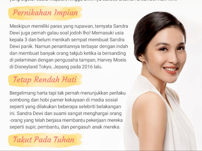 Sandra Dewi Bikin Kagum Warganet