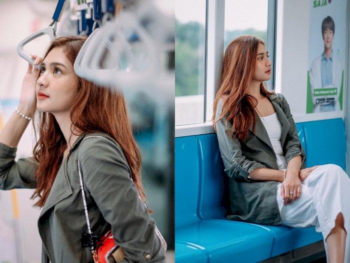 Mikha Tambayong Posting Foto di MRT, Netizen: Cantik Banget!