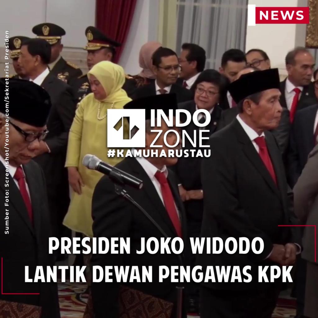 Presiden Joko Widodo Lantik Dewan Pengawas KPK