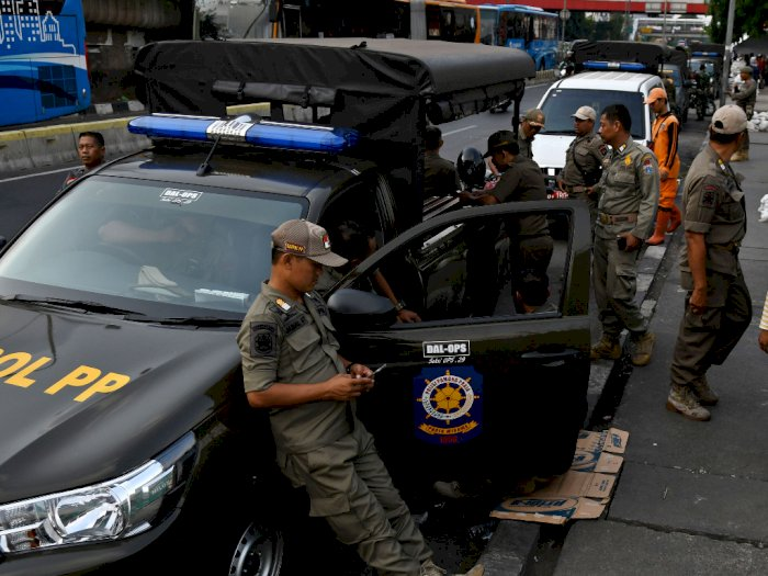 1.150 Satpol PP DKI Jakarta Kawal Pengamanan Pergantian Tahun Baru
