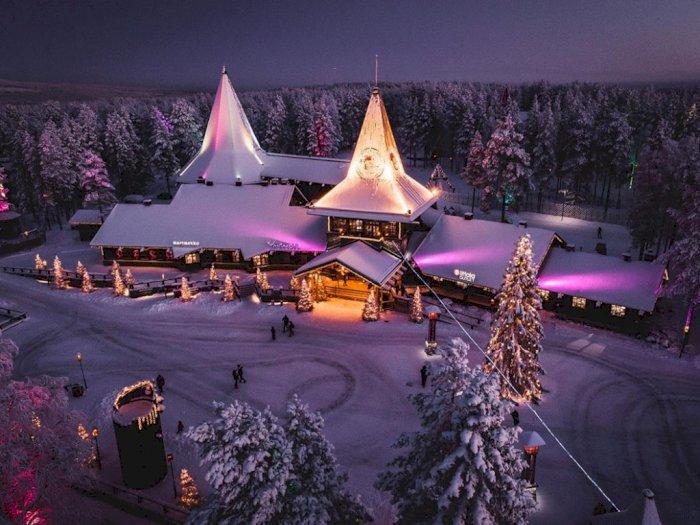 Potret 'White Christmas' di Desa Sinterklas Finlandia