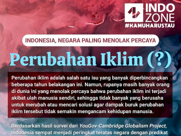 Indonesia, Negara Yang Menolak Percaya Perubahan Iklim(?)