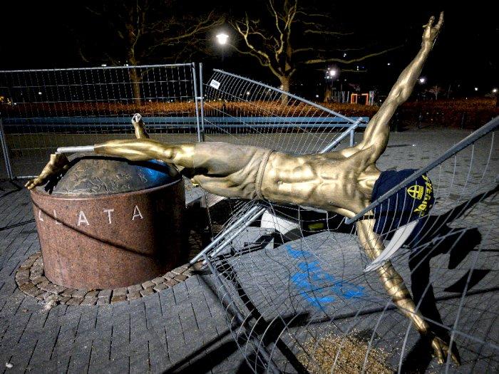 Lagi, Patung Zlatan Ibrahimovic Jadi Korban Vandalisme