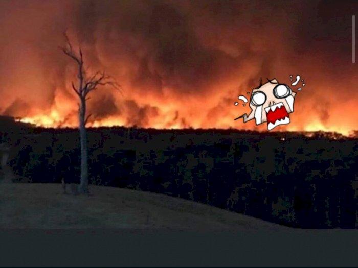 Bikin Geger! Ada Penampakan Wajah Iblis di Kebakaran Hutan Australia
