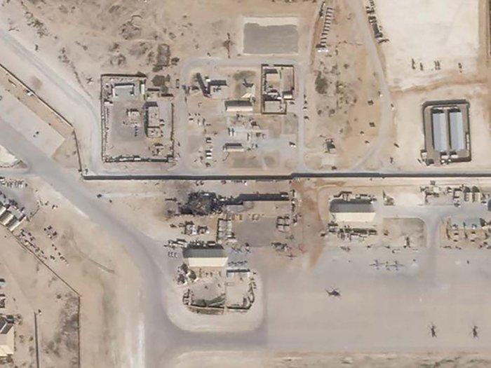 FOTO: Melihat Kerusakan Pangkalan Militer AS di Irak dari Satelit