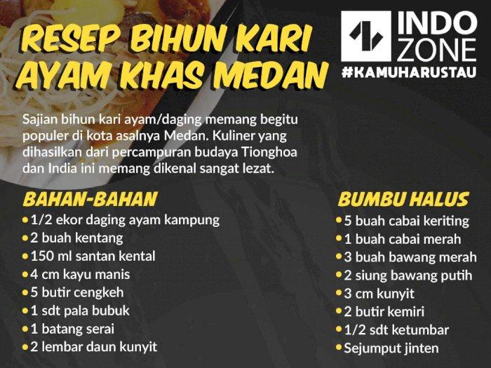 Resep Bihun Kari Ayam Khas Medan
