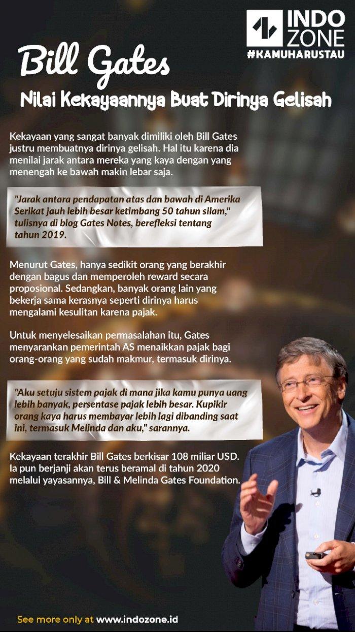 Bill Gates Nilai Kekayaannya Buat Dirinya Gelisah