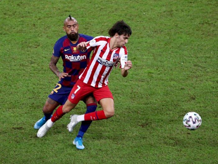 Joao Felix Tetap Santuy Saat Diintimidasi Jordi Alba, Messi dan Suarez