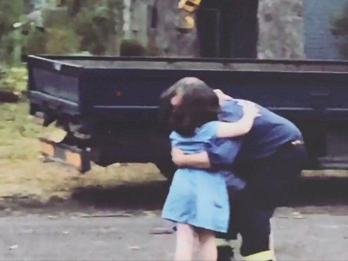 Momen Haru Kepulangan Sang Ayah Usai 11 Hari Padamkan Kebakaran Hutan