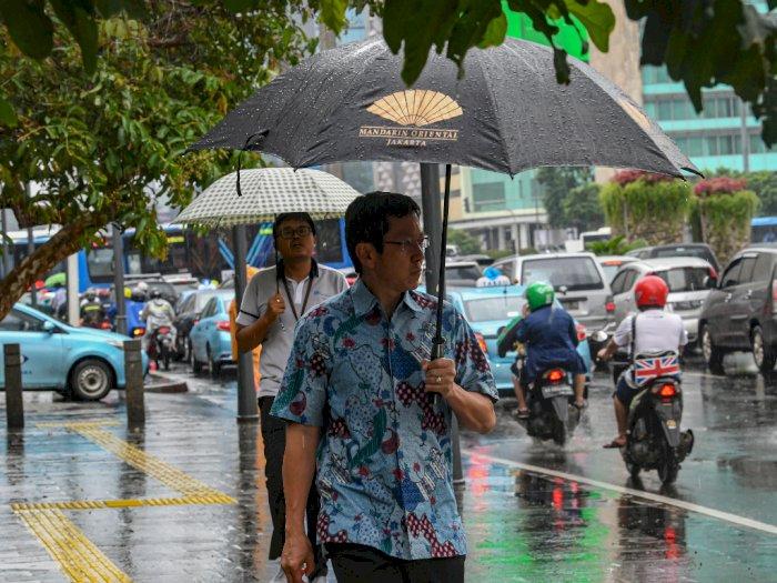 Pekan Ini, Jakarta Bakal Diguyur Hujan Ringan