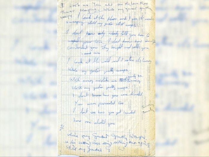 Tulisan Tangan Lirik Lagu Beatles Dilelang Rp2,7 Miliar