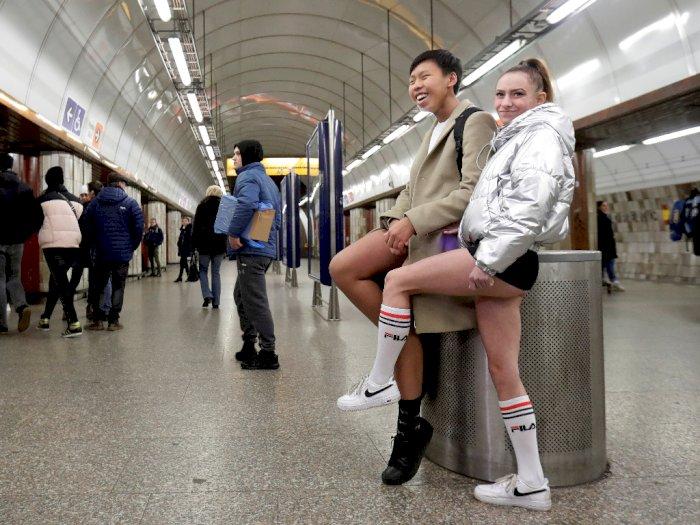 FOTO: Potret Warga Dunia Merayakan Hari Tanpa Celana