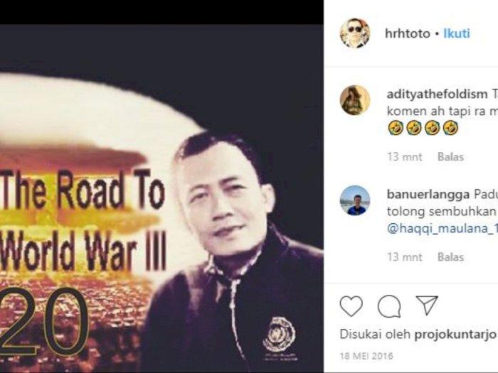 Raja Keraton Agung Sejagat Pernah Ramal Perang Dunia 3 di Instagram