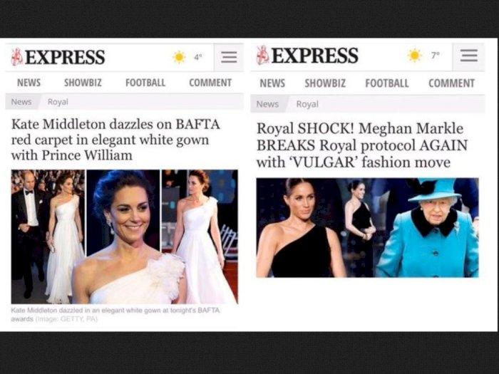 Perbedaan Headline Media Inggris ke Meghan Markle dan Kate Middleton