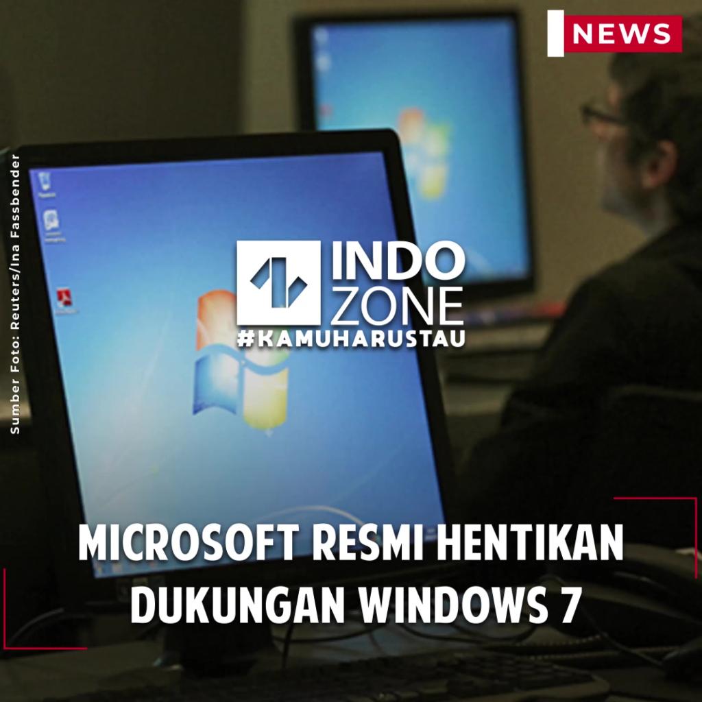 Microsoft Resmi Hentikan Dukungan Windows 7