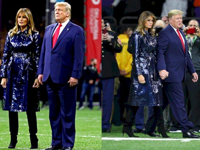 Netizen Salfok dengan Coat Melania Trump, Hitam atau Biru Sih?