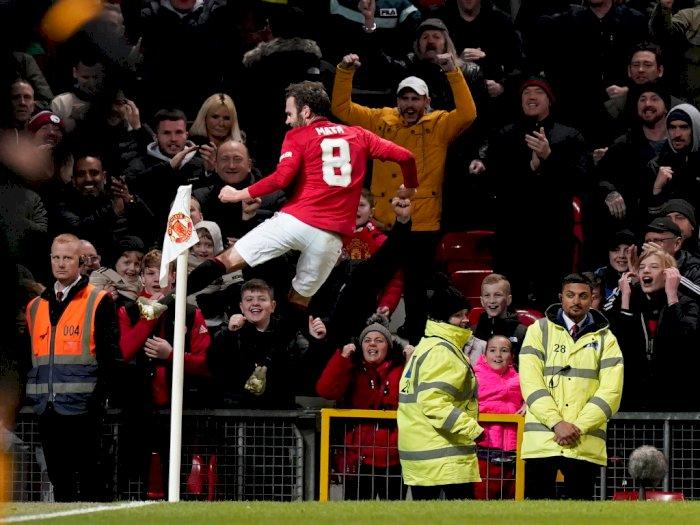 FOTO: Gol Tunggal Juan Mata Bawa MU Melaju ke Piala FA