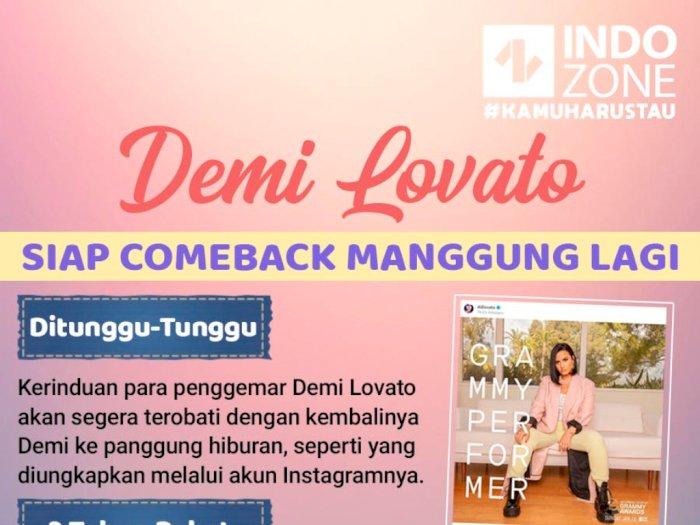 Demi Lovato Siap Comeback Manggung Lagi