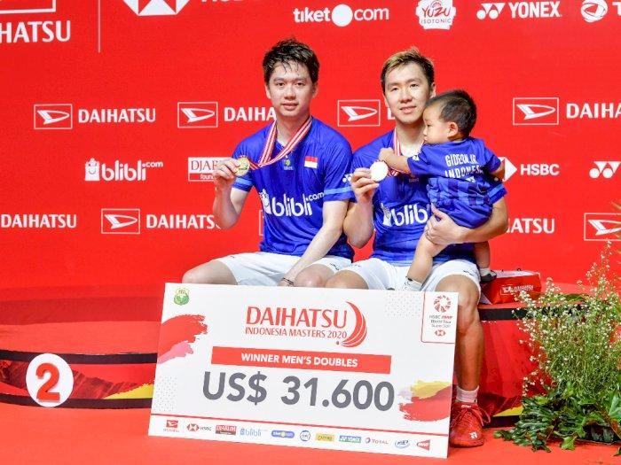 FOTO: Tuan Rumah Raih 3 Gelar Juara Indonesia Masters 2020