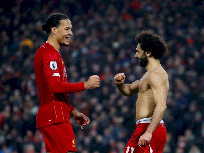FOTO: Hajar MU 2-0, Liverpool Kokoh di Puncak Klasemen