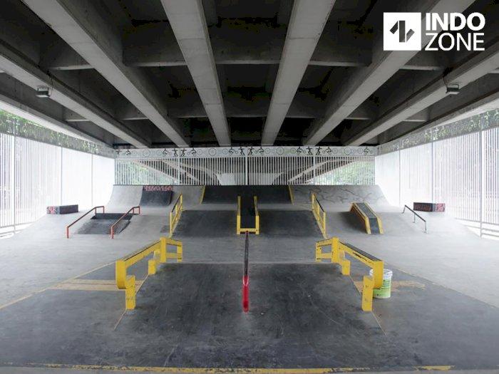FOTO: Begini Wujud Skatepark Senilai Rp14,3 Miliar di Pasar Rebo