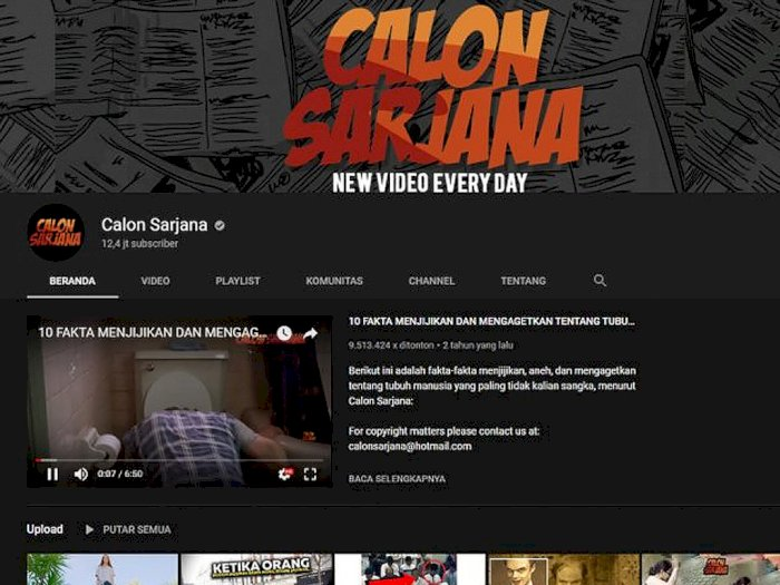 Inilah Alasan Kenapa Channel YouTube Calon Sarjana Dimusnahkan!