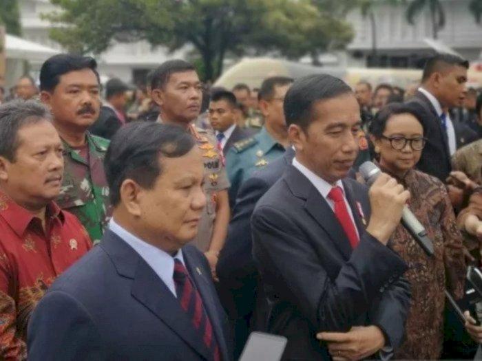 Prabowo Jabarkan Strategi Pertahanan Negara di Hadapan Jokowi