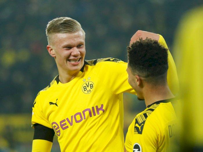 Cetak Lima Gol Dalam 57 Menit, Haaland Cetak Rekor di Bundesliga
