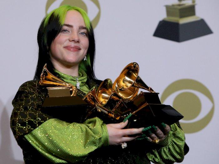 Cetak Sejarah di Usia 18 Tahun, Billie Eilish Raih Lima Grammy Awards