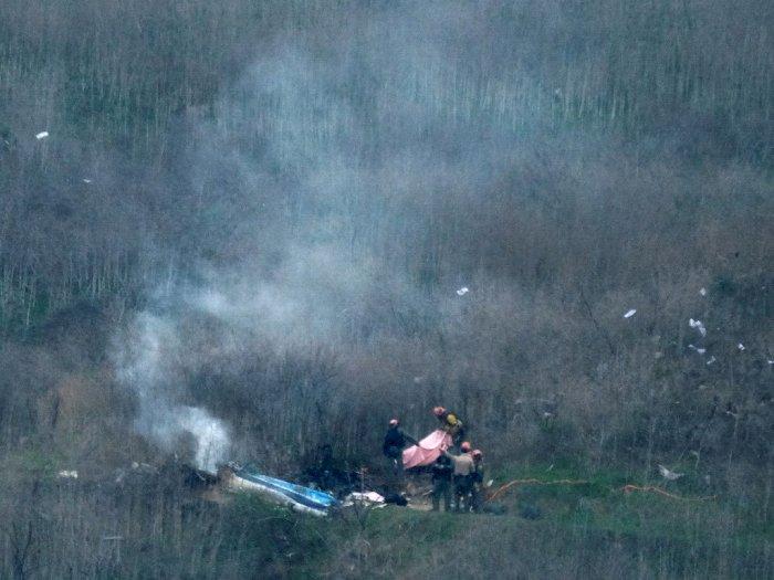 FOTO: Begini Kondisi Helikopter yang Tewaskan Kobe Bryant