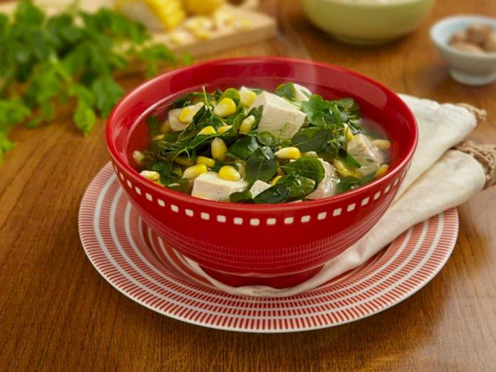 Menu Beda untuk Makan Malam, Sup Daun Kelor