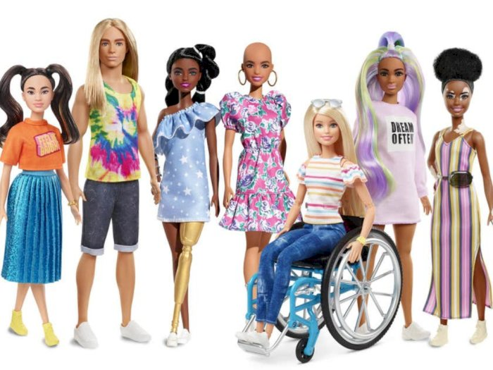 Boneka Barbie Tanpa Rambut dan Kulit Vitiligo Siap Meluncur di 2020