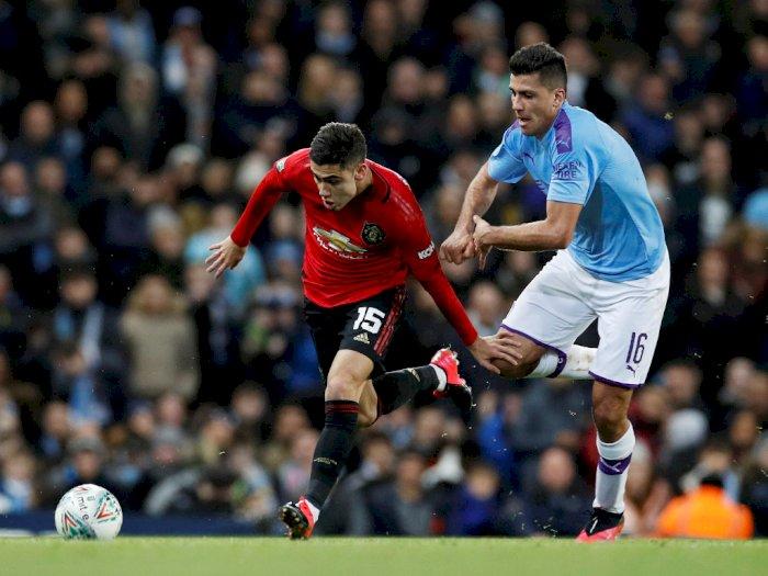 FOTO: Manchester City Menyerah 1-0 atas Manchester United