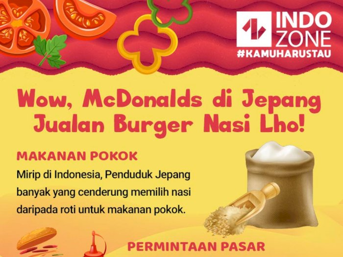 Wow, McDonalds Jepang Jualan Burger Nasi Lho!