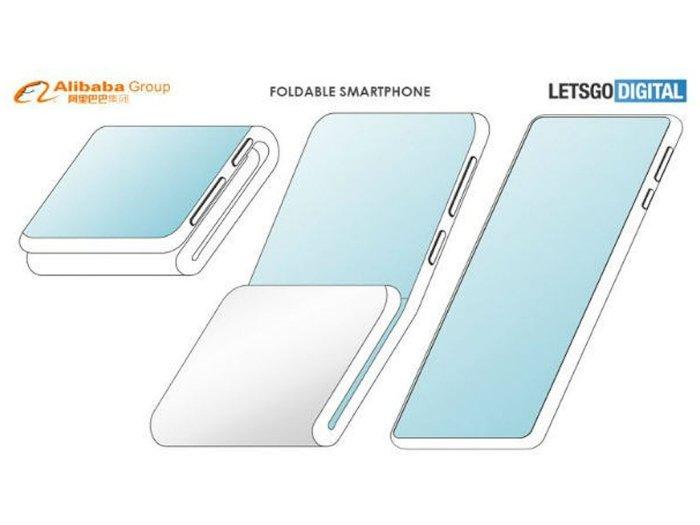 Alibaba Patenkan Desain Smartphone Lipat Pertama Buatannya