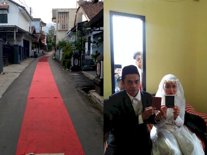 Pengantin Ini Gelar 'Red Carpet' 1 Km, Alasannya untuk Penuhi Nazar