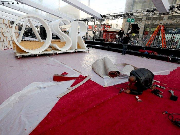 FOTO: Intip Persiapan Karpet Merah Oscar 2020