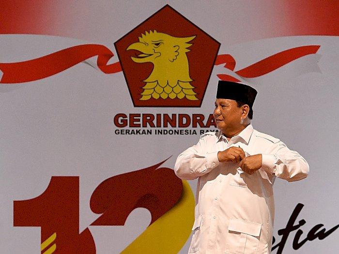 Prabowo Beberkan Sekelumit Perjuangan Dirikan Partai Gerindra