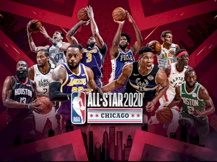 Ini Susunan Pemain NBA All Star Game 2020