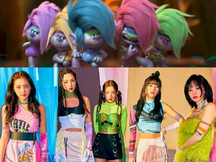Tidak Hanya Lagunya, Red Velvet juga Muncul Jadi Karakter di Trolls 2