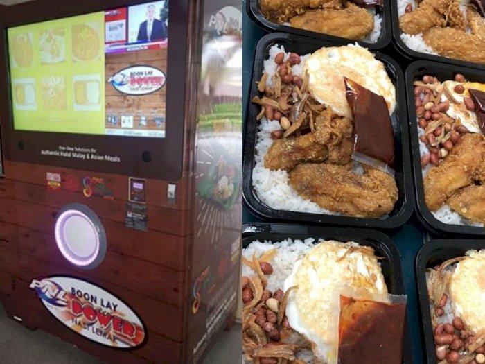 Di Singapura, Beli Nasi Lemak Bisa Pakai Vending Machine