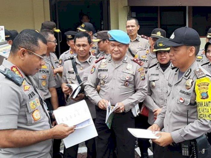 Polrestabes Apresiasi Perpustakaan Keliling Polsek Medan Helvetia
