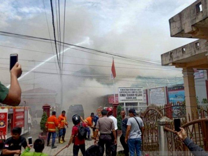 16 Senpi Terbakar dalam Kerusuhan di Rutan Kabanjahe