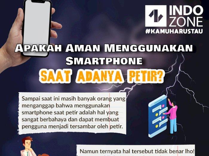 Apakah Aman Menggunakan Smartphone Saat Adanya Petir ?
