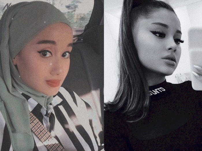 Warganet Pangling, Wanita Berhijab Ini Dikira Ariana Grande